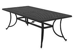 Burnella Outdoor Large Rectangular Dining Table