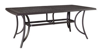 Burnella Outdoor Medium Rectangular Dining Table