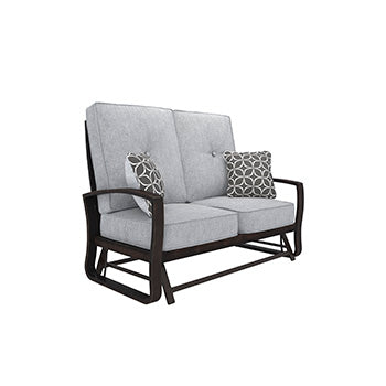 Castle Island Outdoor Loveseat Glider with Cushion