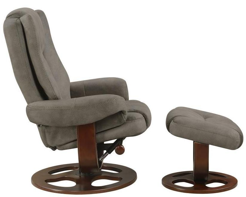 Swivel Glider Recliner w/ Ottoman - in 2 Styles