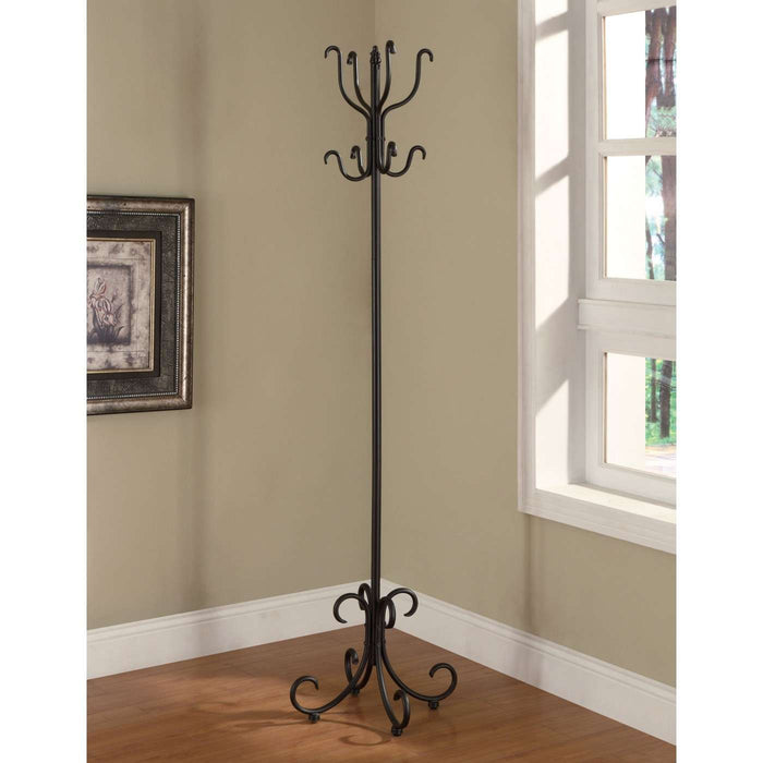Metal Coat Rack - Black