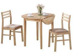 Simple Drop Leaf Dining Set - 2 Colors
