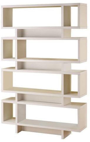 Modern Stagger Bookcase -  2 Colors