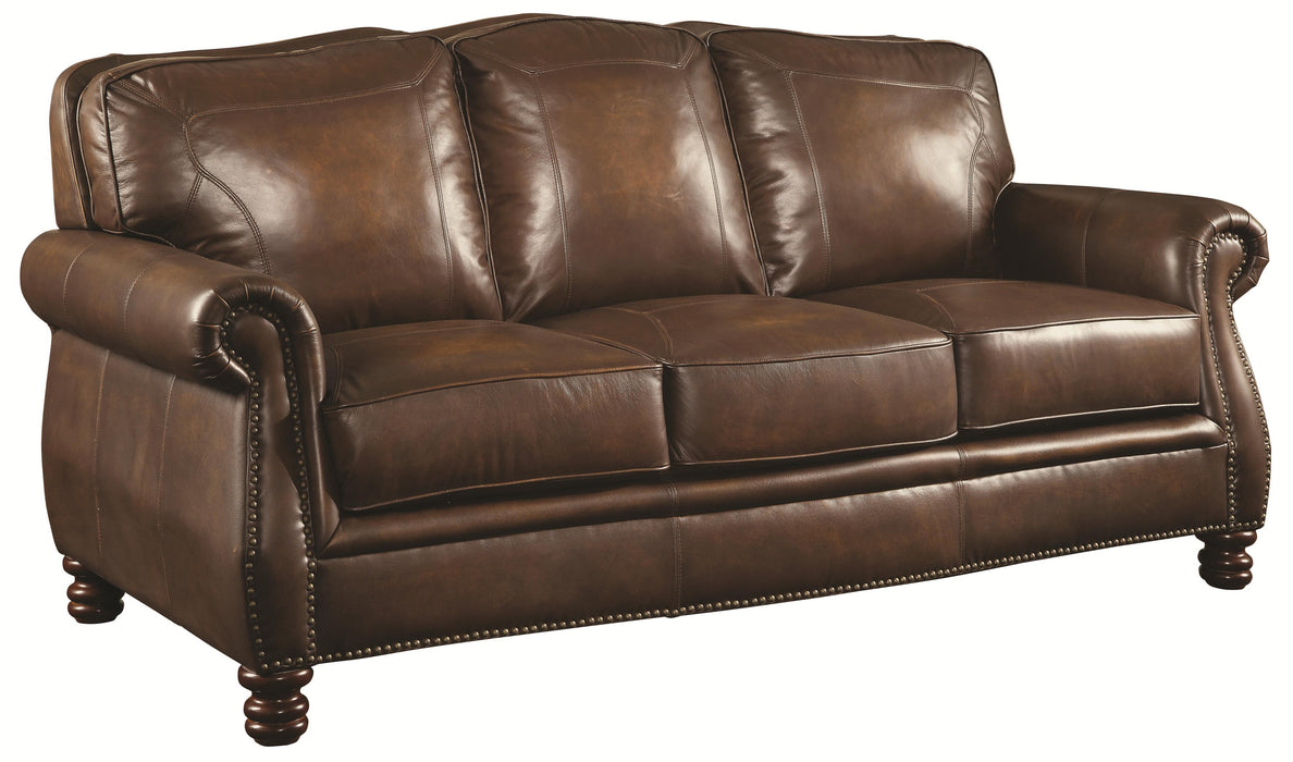 Montbrook Sofa - Brown - Genuine Leather