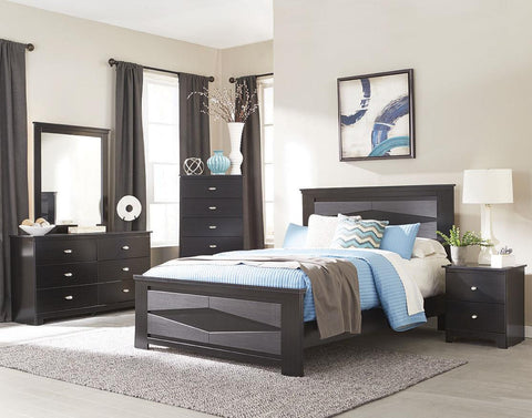 Delevan Bedroom Package - Gloss Black