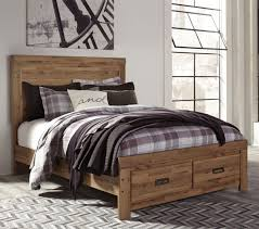 Cinrey - Storage Bed - Medium Brown