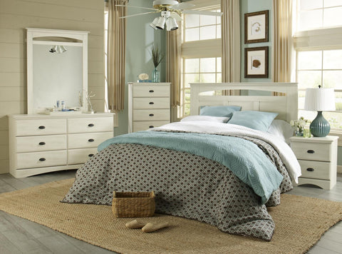 Durand Bedroom Package - Weathered White