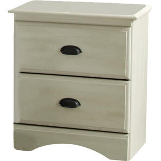 Durand 2 Drawer Nightstand - Weathered White