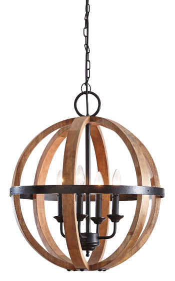 Emilano Wooden Pendant Light