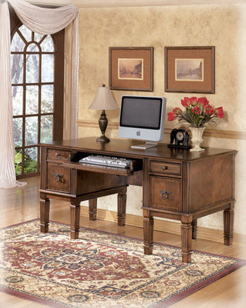 Hamlyn Home Office Storage Leg Desk