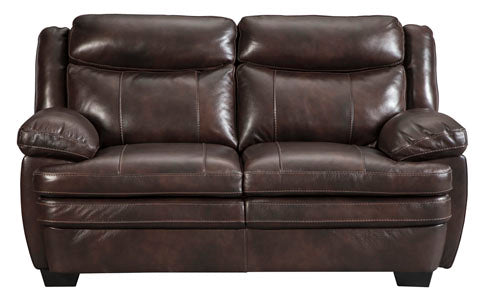 Hannalore Loveseat - Genuine Leather