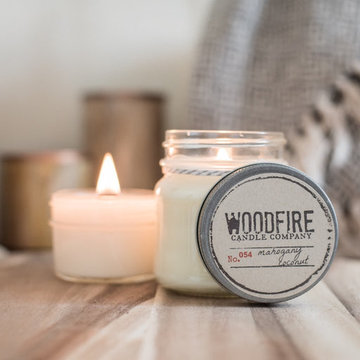 Mason Jar Wood Wick Soy Candle - 21 Scents