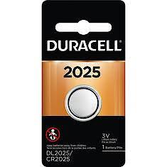 Duracell Button Cell Lithium Battery, 3V 2025