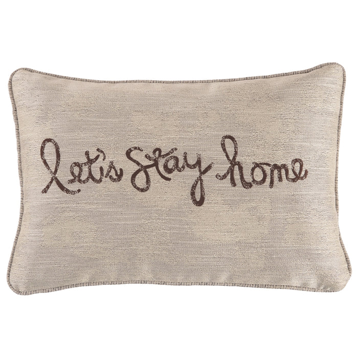 Let's Stay Home Accent Pillow Set of 4