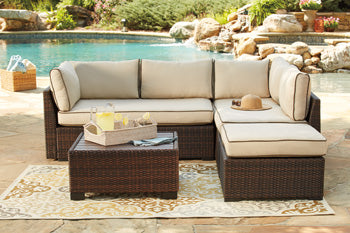 Loughran Outdoor 4 Piece Sectional