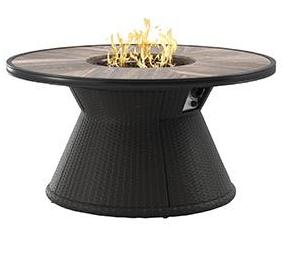 Marsh Creek Outdoor Round Fire Pit Table