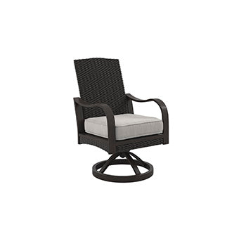 Marsh Creek Outdoor Swivel Chair with Cushion - Set of 2