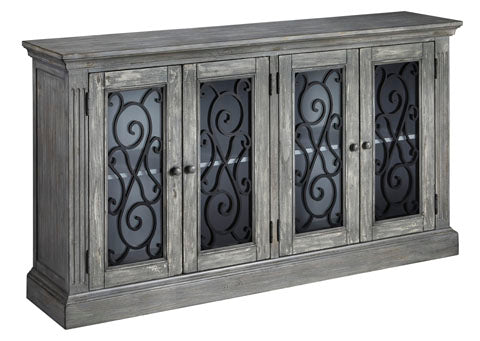 Mirimyn Large Framework Glass Door Accent Cabinet