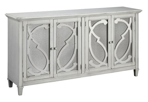 Mirimyn Large Glass Door Accent Cabinet