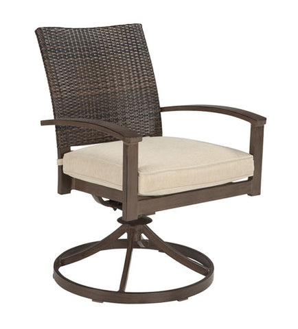 Moresdale Outdoor Swivel Chair with Cushion - Set of 2