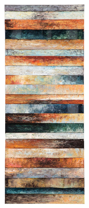 Odiana Wood and Metal Wall Panel