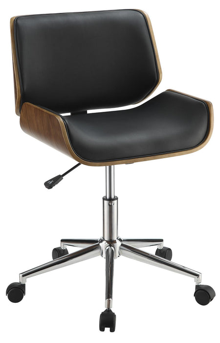 Contemporary Leatherette Office Chair - 2 Colors