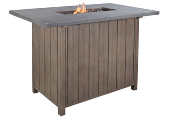 Partanna Outdoor Bar Table with Fire Pit