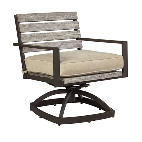 Peachstone Outdoor Swivel Chair with Cushion - Set of 2