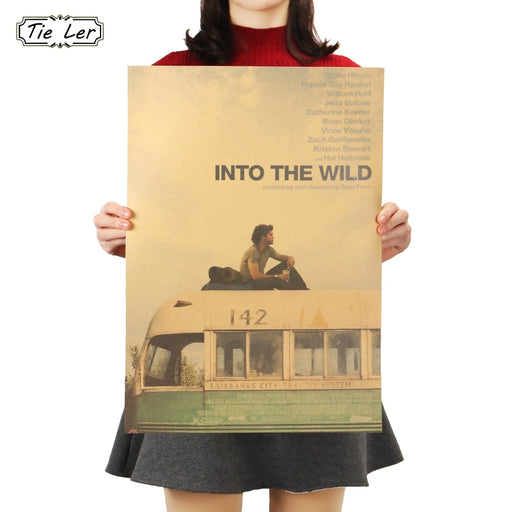 TIE LER Fashion Hot Sale Into The Wild Nostalgia Retro Classic Movie Kraft Poster Painting Wall Sticker