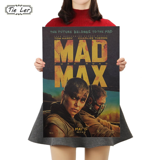 TIE LER 1PC Classic Movie Kraft Paper Poster Vintage Poster Wall Stickers For Living Room Home Decoration 50x35cm