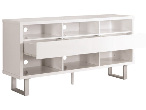Bagley Contemporary Glossy White TV Console