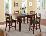 Rockport Collection // 5PC Square Dining in Counter Height