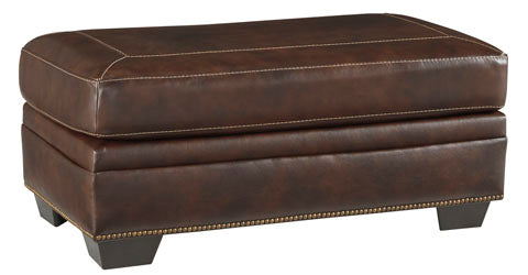 Roleson Ottoman - Genuine Leather