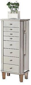 Jewelry Armoire - Antique Silver
