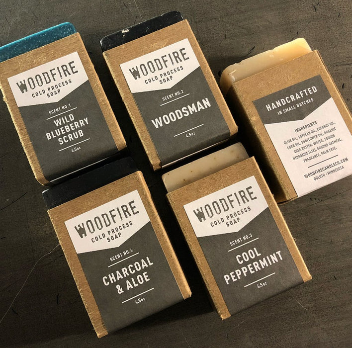 Woodfire Cold Process Soap - 5 Scents