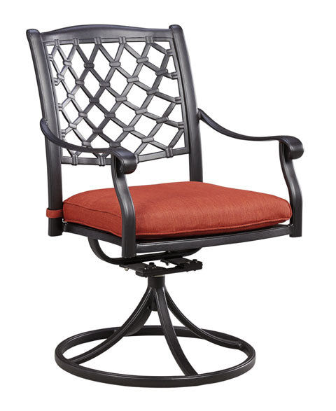 Tanglevale Outdoor Swivel Chair with Cushion - Set of 2