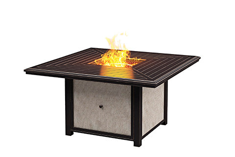 Town Court Outdoor Square Fire Pit Table