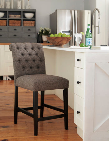 Tripton Bar Stool in 2 Heights - Brown
