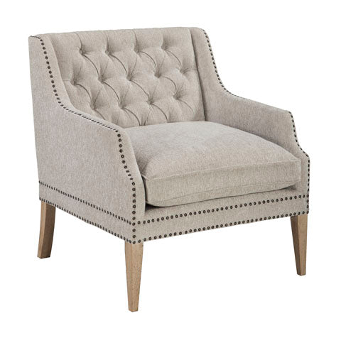 Trivia White Accent Chair