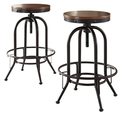 Astonishing Valebeck Swivel Bar Stool Set Of 2 Adjustable Height 2 Heights Gamerscity Chair Design For Home Gamerscityorg
