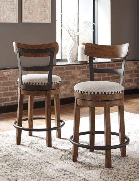 Valebeck Upholstered Swivel Bar Stool - 2 Heights and Colors