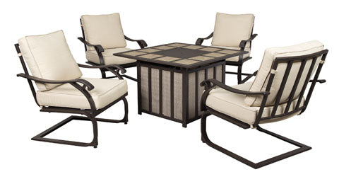 Wandon Outdoor Spring Lounge Chair - Set of 4