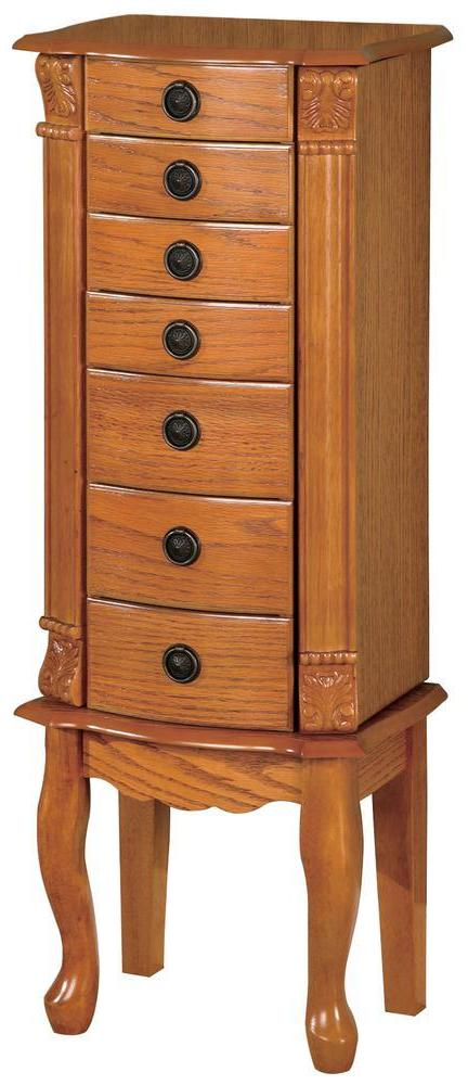 Jewelry Armoire - Warm Brown