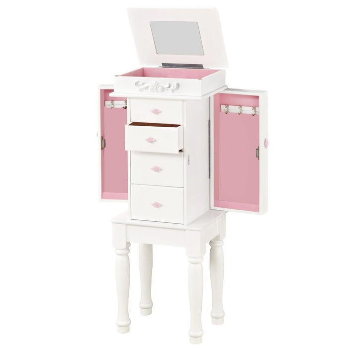 Jewelry Armoire - White
