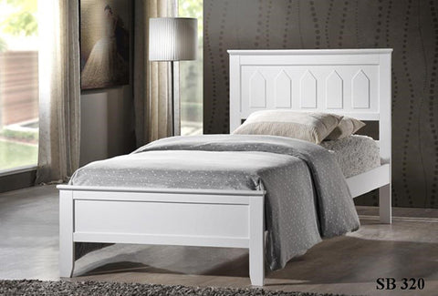 Milton Panel Platform Bed in 2 Finishes