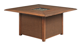 Zoranne Outdoor Square Fire Pit Table