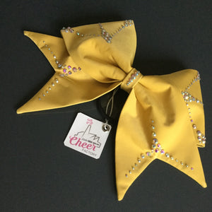 Sunny Bow FABRIC SEWN  Cheer Bow - LittleCheerFactory