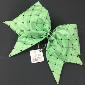 Bubble Trouble FABRIC SEWN  Cheer Bow - LittleCheerFactory