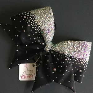 Morning Frost FABRIC SEWN  Cheer Bow - LittleCheerFactory