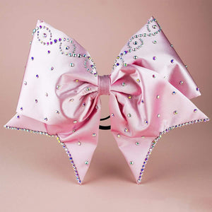 Infinity Pink FABRIC SEWN  Cheer Bow - LittleCheerFactory